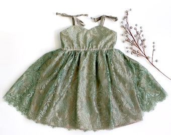 French Lace Dress, Holiday, Flower Girl and Toddler
