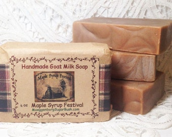 Goat Milk, Soap, Maple, Syrup Festiva,l Cold Process