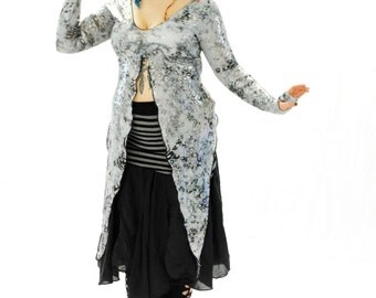 Butterfly Goddess festival Jacket Holographic rainbow sparkle leopard print