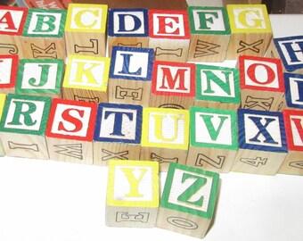 alphabet blocks  complete set