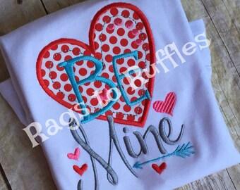 Personalized Valentine Shirt - Monogrammed Valentine Shirt- Valentine Heart Shirt - Valentine's Day Shirt