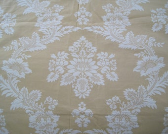"""Home Decor Damask Jacquard Reversable Pale Gold and Cream 2.5 Yards x 54"""""""