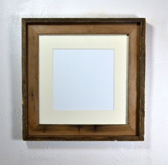 8x8 Or 10x10 Mat In 12x12 Reclaimed Wood Picture Frame