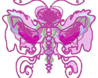 Art Butterfly Machine Embroidery Design by Letzrock  3115