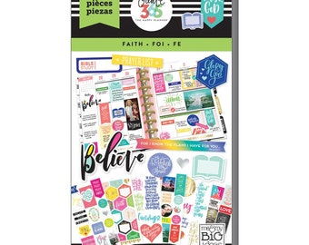 Classic Faith Planner Sticker 621/Pkg Create 365 Happy Planner Sticker Value Pack (PPSV-17)