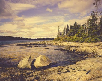 Ocean Photography - New England Art - Coastal Art Print - Maine - Nature Photography - Blue Green Wall Art - Ocean Print - Nautical Art