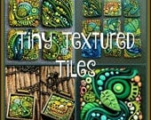NEWYEARSALE Tiny Textured Tiles,  A Polymer Clay PDF Tutorial, Inchie Tiles