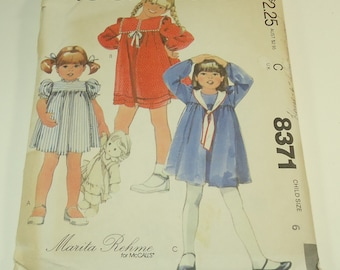 McCall's Children's Dress Pattern Size 6