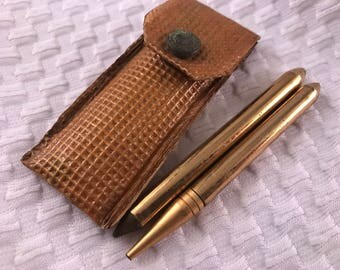 Vintage Gold Pencil Set in Small Case