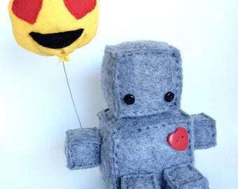 Emoji plush robot