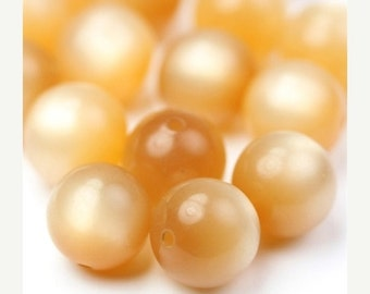 50% OFF SALE Vintage Lucite Beads Honey Moonglow 11mm (12) VPB228