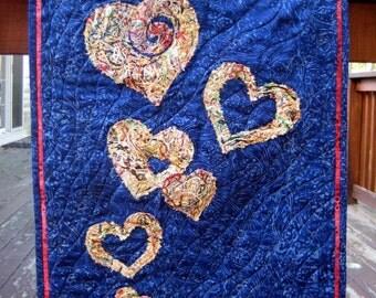 Lighthearted Love - Hearts Quilt Wall Art