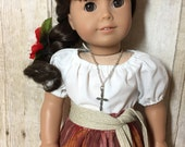 18 inch Doll Clothes  Southwestern Outfit  in Earth Tones for Josefina