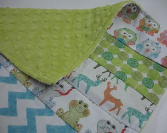 Over In the Meadow Minky Burp Cloth 15 x 16 READY TO SHIP On Sale