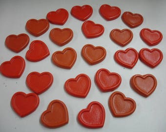 Hearts with Borders Shape Crayons in Orange 24 Pieces