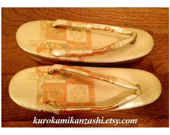 Phoenix Medallion - Vintage Japanese Decorative Zori Sandals Formal for Women