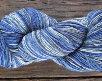 """Plain & Fancy Hand Dyed Fine Wool Yarn """" Blue Sage Green Dip Dye"""""""