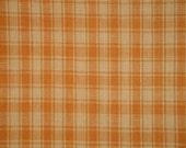 FLAWED Cotton Homespun Fabric | Plaid Fabric | Quilt Fabric | Home Decor Fabric | Craft Fabric | Light Brown Plaid Fabric | 42 x 44