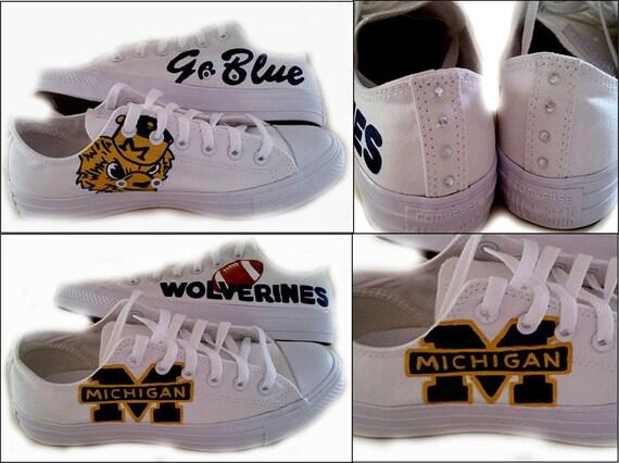 University Of Michigan Converse Shoes