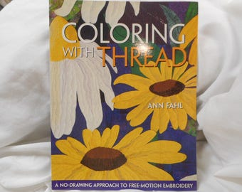 Coloring With Thread book - CLEARANCE