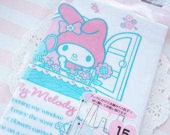 15 Plastic Baggies / Gift Bags (19cm27cm)  My Melody Pink / Blue