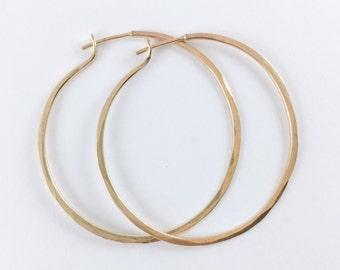 Handmade Artisan Classic Hoops 14kt Gold Filled Earrings