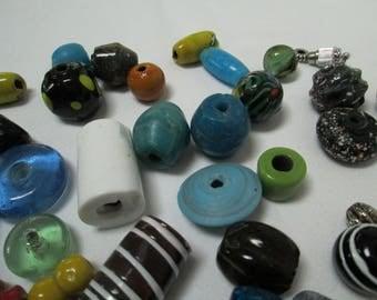 Lot Blown Glass Beads