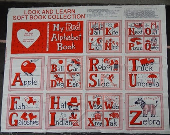 Look and Learn Soft Book Fabric / My Red Alphabet Book / DIY