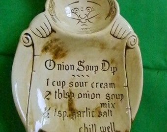 Vintage French Onion Soup Dip Dish, Chef, Calif. USA S8
