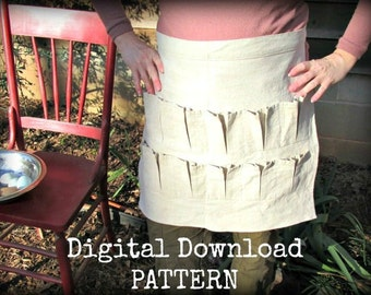 Egg Gathering Apron DIGITAL DOWNLOAD Pattern DIY Tutorial Epattern