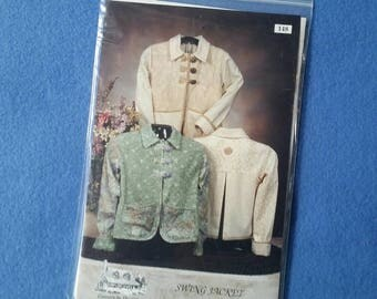 Swing Jacket Pattern, uncut sewing pattern by Country in the City, sizes XS, S, M, L, XL