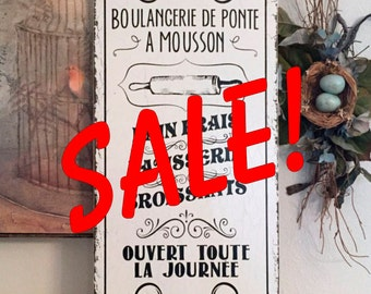 Ready to Ship, FRENCH SIGNS, French Bakery Sign, French Kitchen Signs, BOULANGERIE, French Cafe, Cafe Signs, 12 x 24