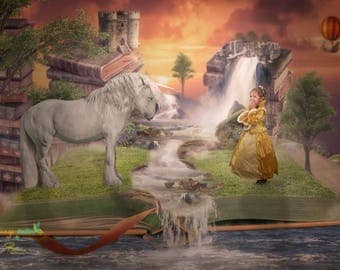 Storybook fantasy fairytale backgrounds x 2 |digital background |digital backdrop|