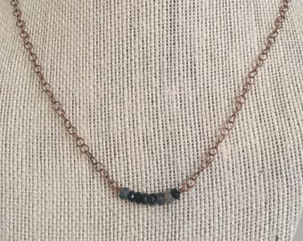 Black Agate and Copper Necklace