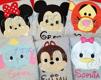 5+ Tsum Tsum Vacation Unisex Shirts  ADULT or KIDS Shirts with Character & Name ONLY (6  weeks)