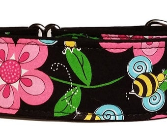 """Bees and Blooms 2""""  Martingale Collar-"""