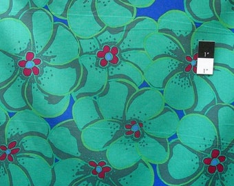 20% OFF SALE Brandon Mably PWBM056 Elephant Flower Green Quilt Cotton Fabric By The Yard