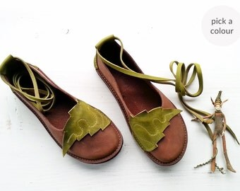 Everyday comfort shoes, NEVERLAND, Handmade Leather Fairytale Shoes by Fairysteps in your colour and size