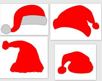 Santa Hats - SVG, Studio3, PDF, PNG, Jpg File - Custom Designs & Wording Welcome