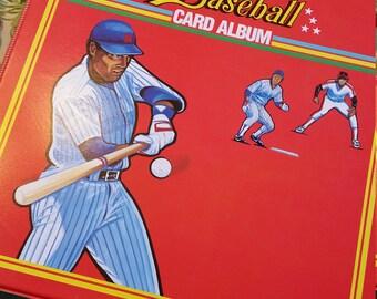 1989 three ring baseball binder