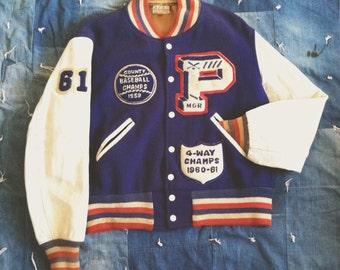 Vintage 1950's Baseball Varsity Jacket