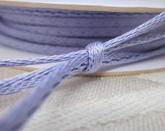 5m Lilac Satin Rope Cord, Rat Tail Cord