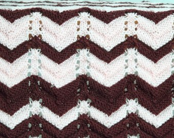 Pink and Maroon Baby Afghan