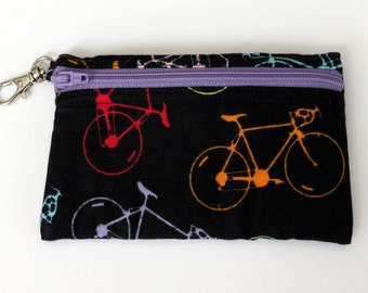Bicycles - Clip Coin Purse with Zipper Front