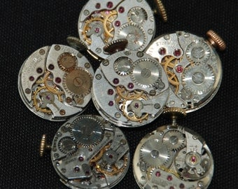 Steampunk Watch Movements Vintage Antique Small Round Watch Movements RE 84
