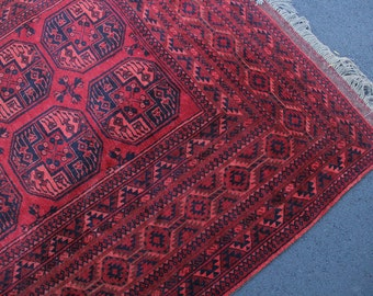 11 feet x 7 feet Red & Blue Moroccan Woven Area Rug Large Authentic