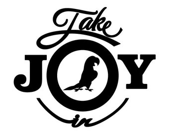 Take Joy In Parakeets Decal