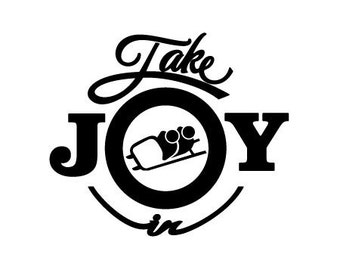Take Joy In Bobsled Decal
