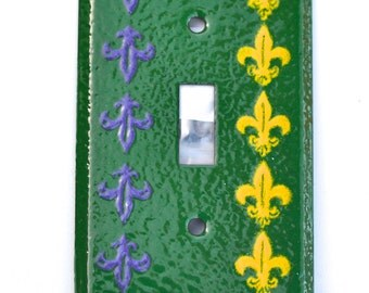 Free Shipping One of a Kind Fluer Dis Lis Enameled Light Switch Plate Cover