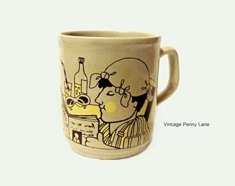 Vintage Table Tops Cartwrights Staffordshire England Mug Cup